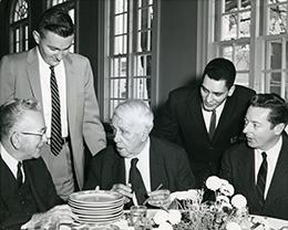 Poet Robert Frost visits BSTC, 1959