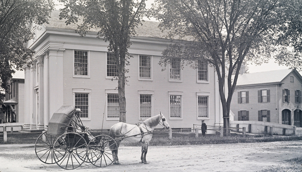 Bridgewater Town Hall and Firehouse, ca. 1880