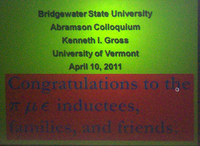2011 Abramson Colloquium